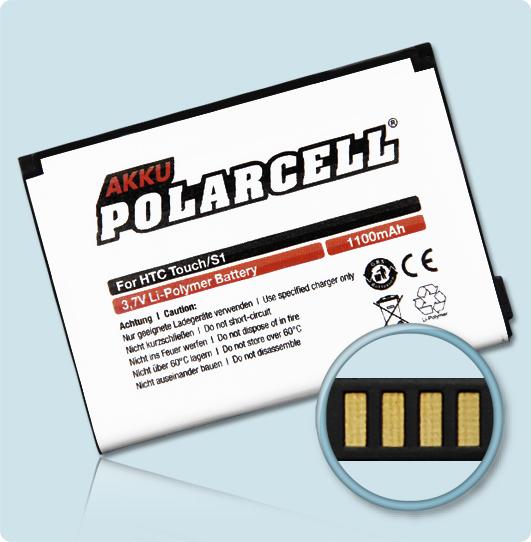 PolarCell® Hochleistungsakku für HTC XDA Nova  ersetzt Originalakku BA S230