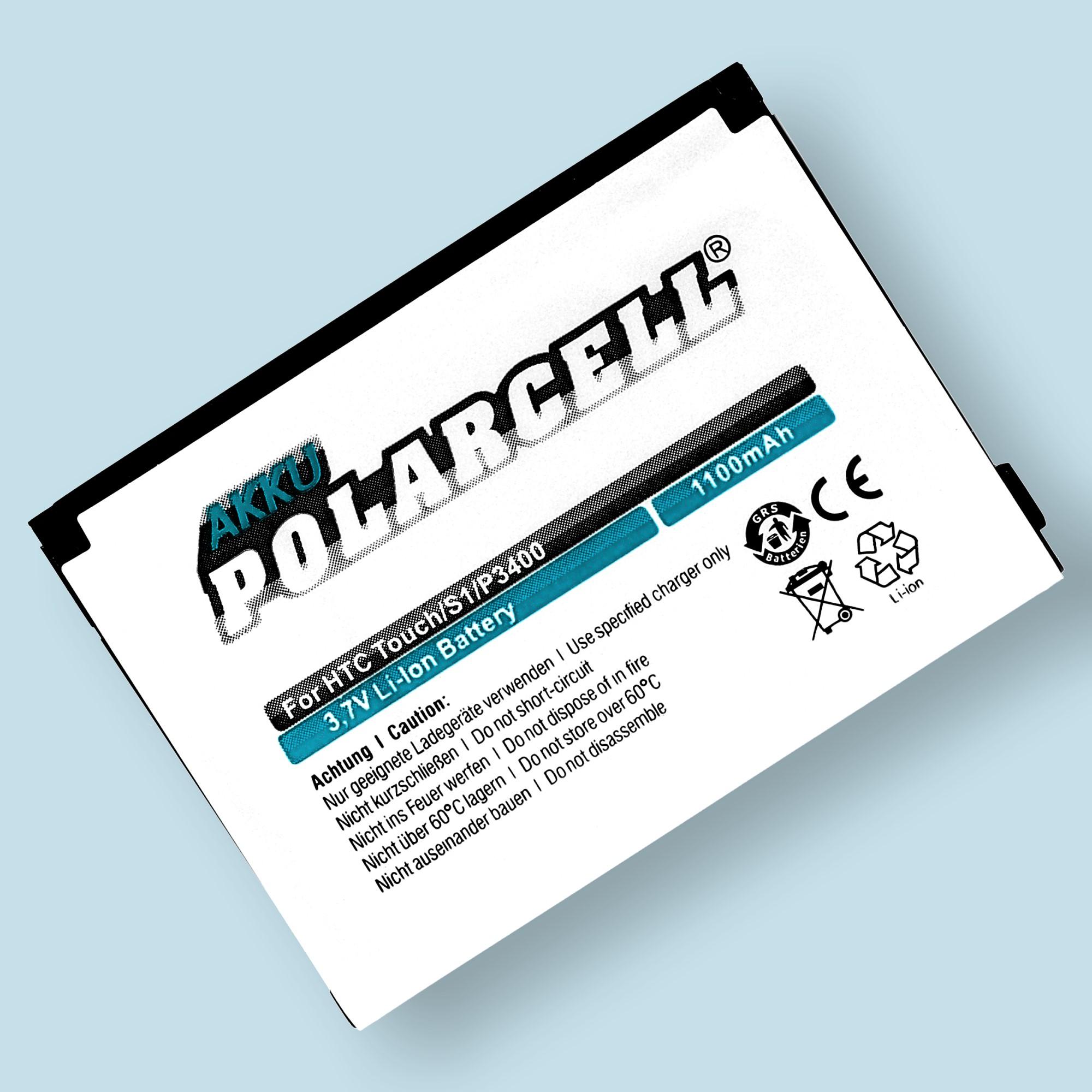 PolarCell® Hochleistungsakku für HTC Elf ersetzt Originalakku BA S230
