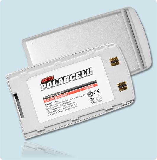 PolarCell® Hochleistungsakku für Samsung SGH-A300, ersetzt Originalakku  BST0458SE