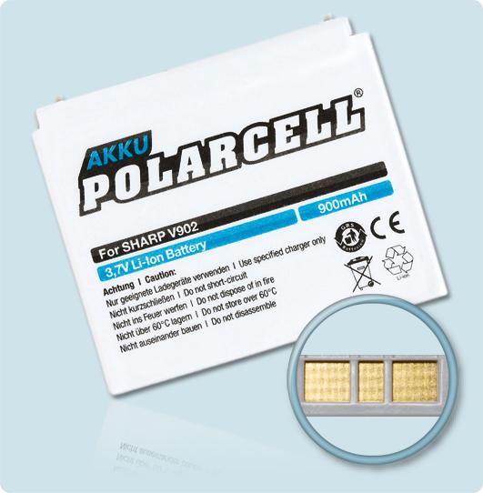 PolarCell® Hochleistungsakku für Sharp V703