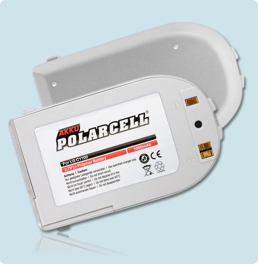 PolarCell® Hochleistungsakku für LG C1100, ersetzt Originalakku BSL-64G