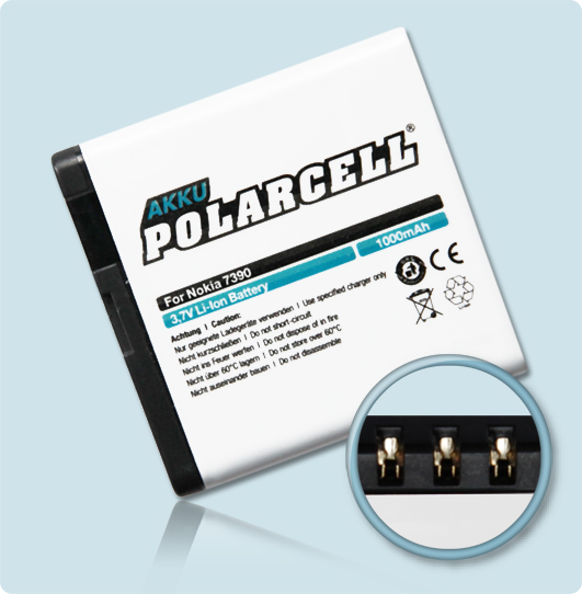 PolarCell® Hochleistungsakku für Nokia 5610, ersetzt Originalakku BP-5M