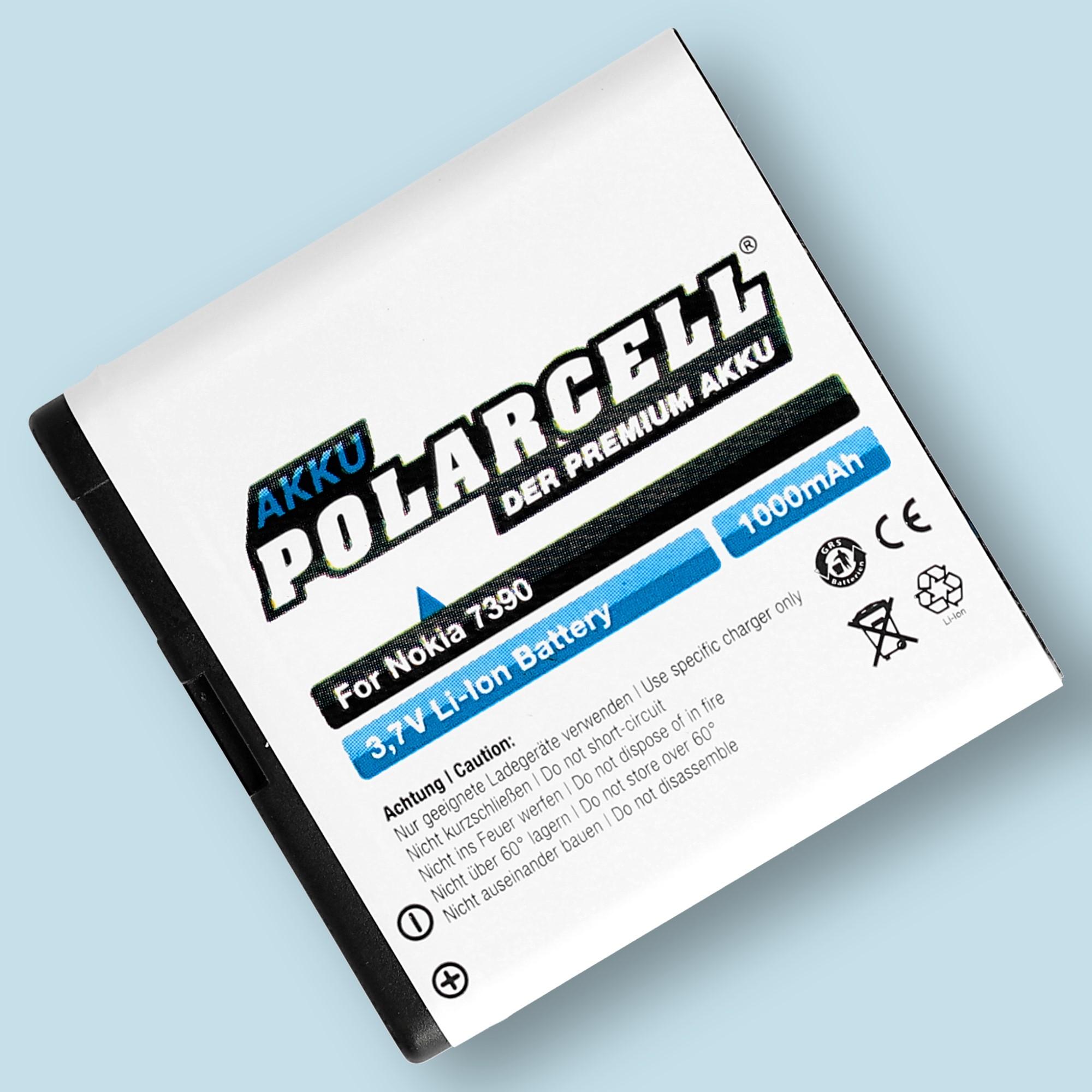 PolarCell® Hochleistungsakku für Nokia 6110 Navigator, ersetzt Originalakku BP-5M