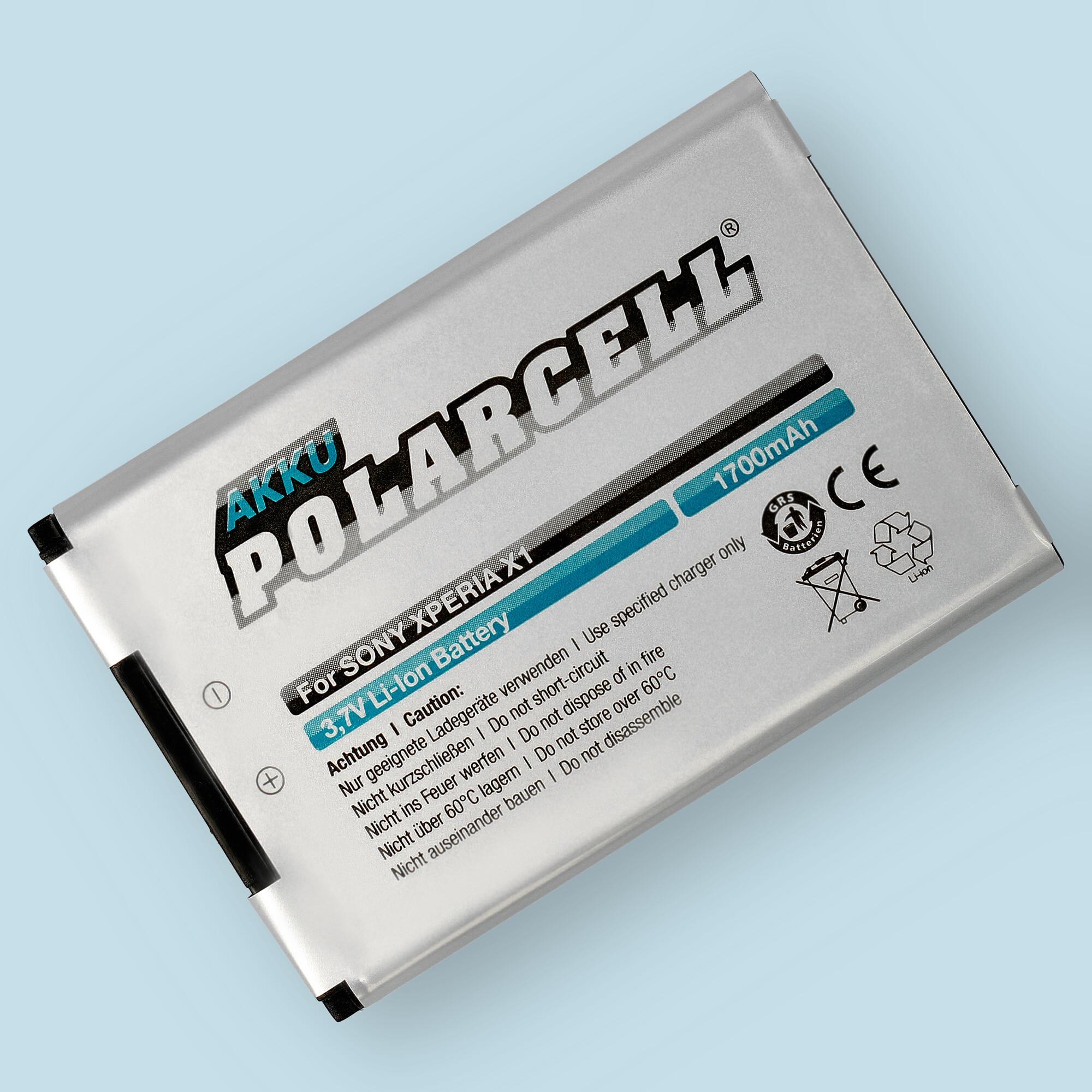 PolarCell® Hochleistungsakku für Sony-Ericsson Xperia X1, ersetzt Originalakku BST-41