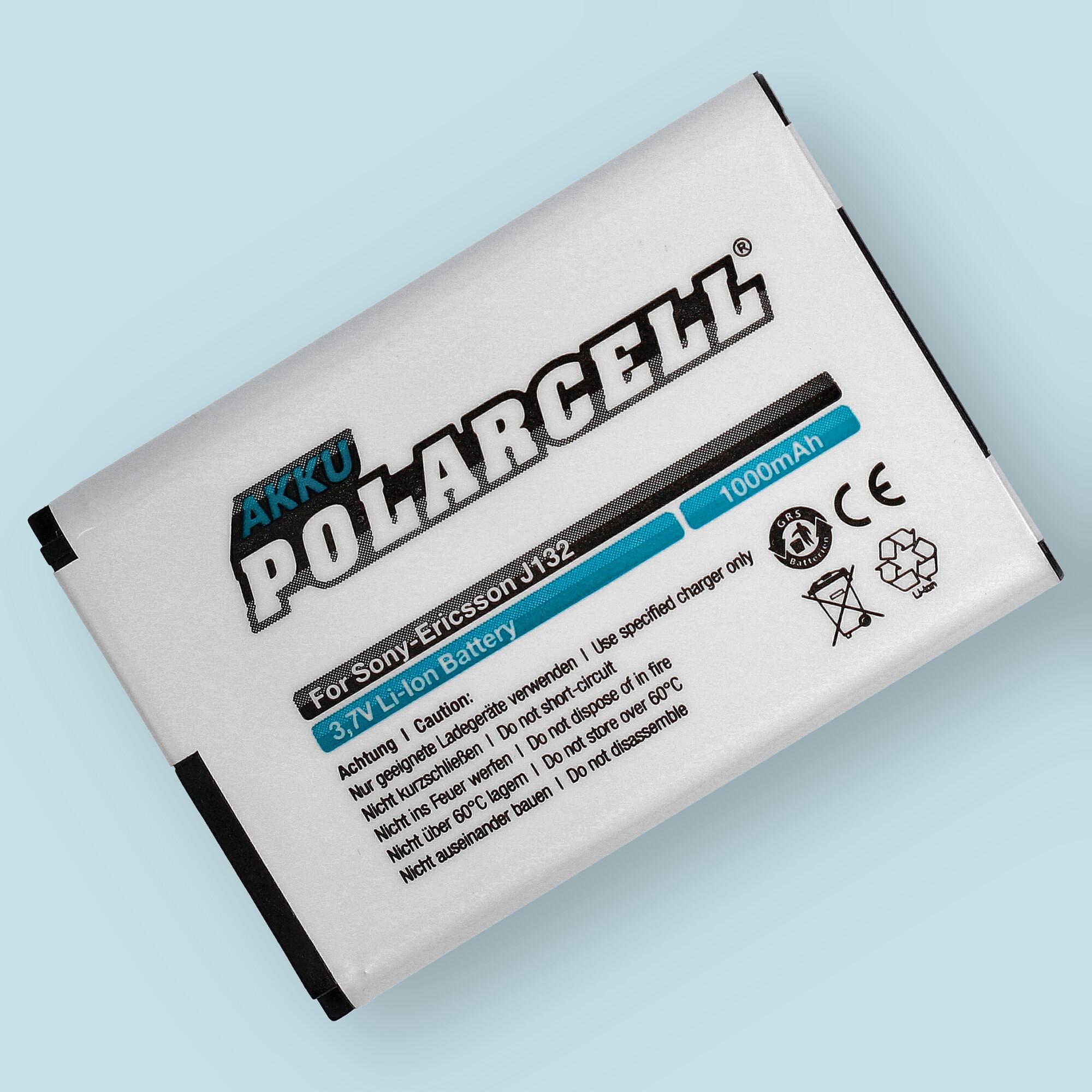 PolarCell® Hochleistungsakku für Sony J132, ersetzt Originalakku BST-42
