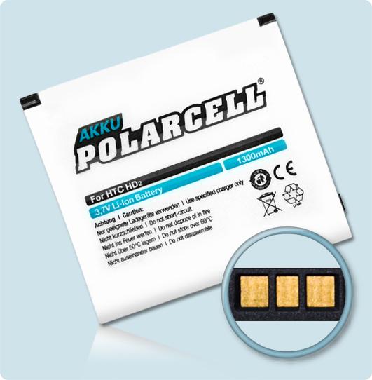 PolarCell® Hochleistungsakku für HTC T8585, ersetzt Originalakku BA S400