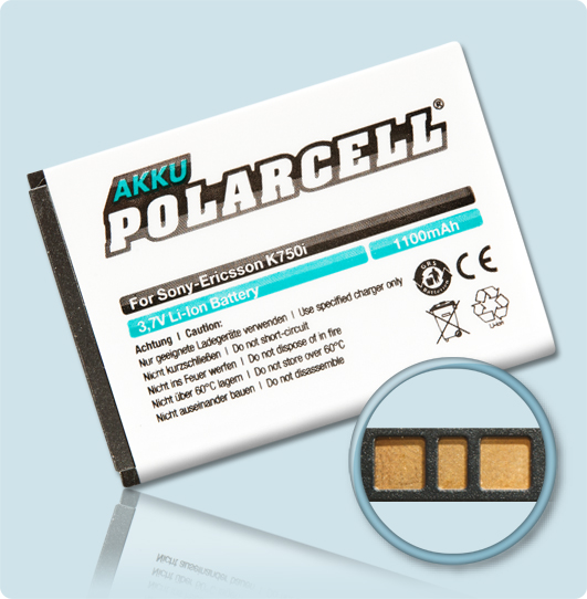 PolarCell® Hochleistungsakku für Sony-Ericsson W800i, ersetzt Originalakku  BST-37