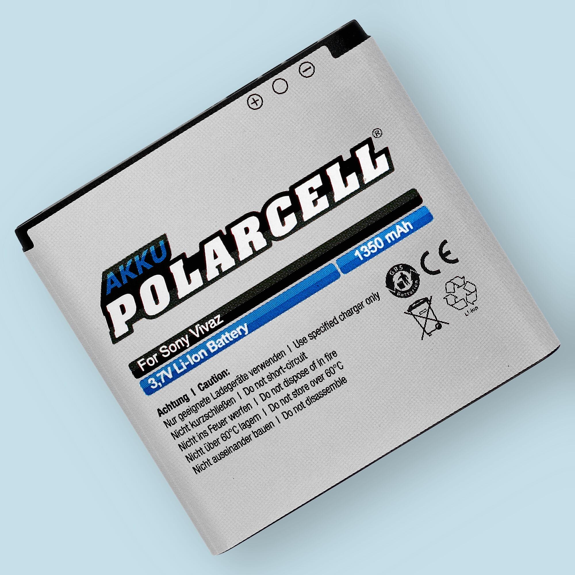 PolarCell® Hochleistungsakku für Sony-Ericsson Xperia Active, ersetzt Originalakku  EP500