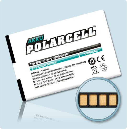 PolarCell® Hochleistungsakku für BlackBerry P9981, ersetzt Originalakku  JM-1
