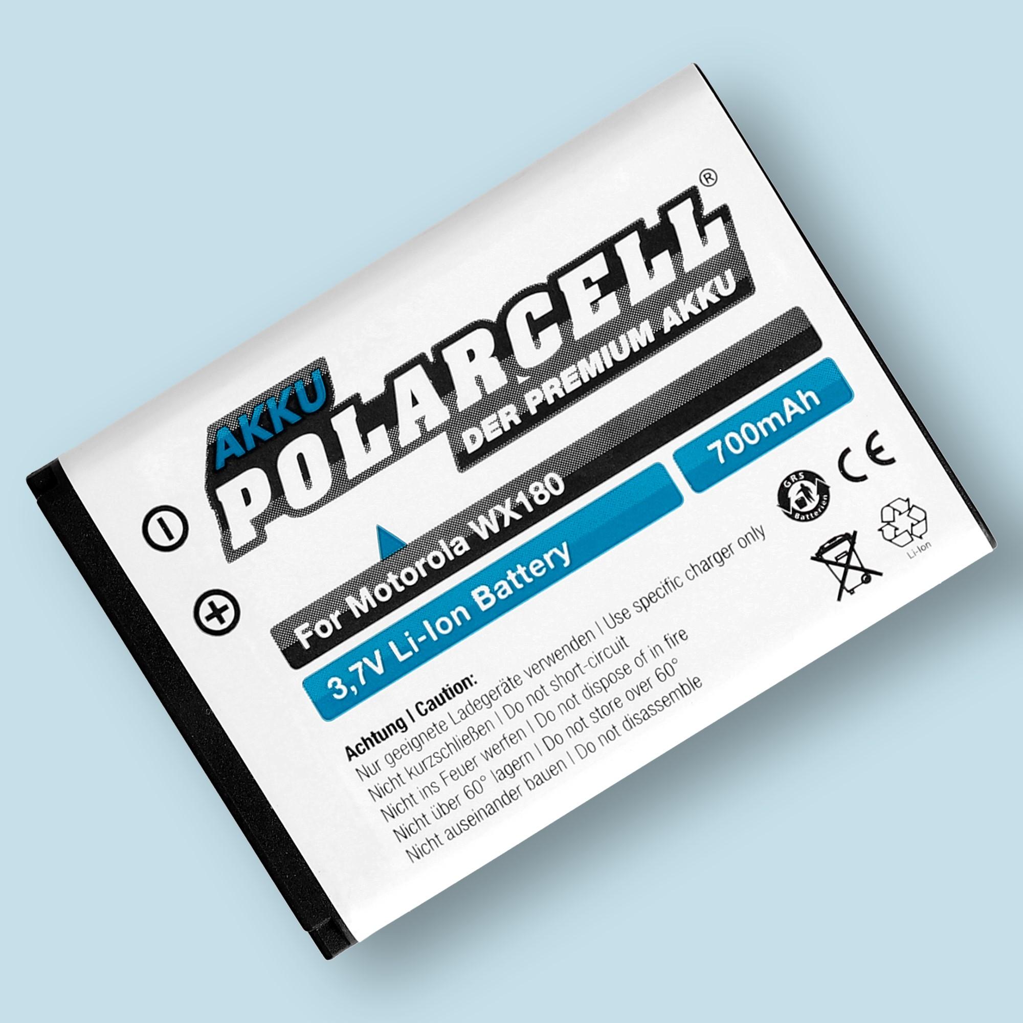PolarCell® Hochleistungsakku für Motorola WX180, ersetzt Originalakku OM4A