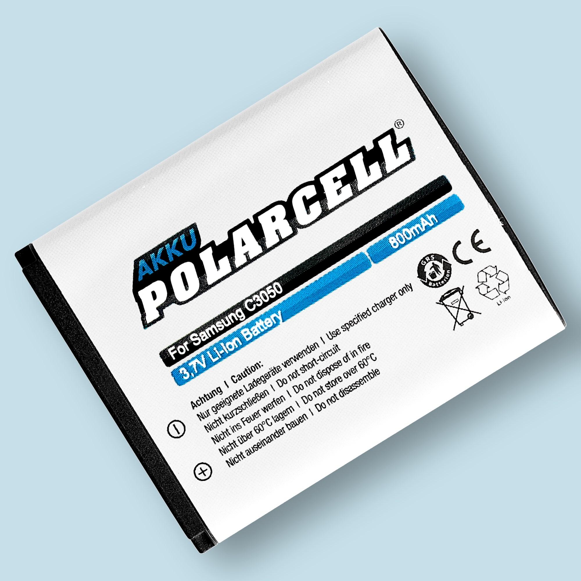 PolarCell® Hochleistungsakku für Samsung SGH-C3050, ersetzt Originalakku AB483640BE