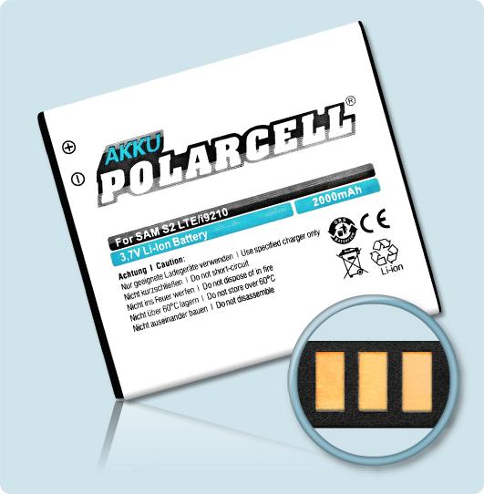 PolarCell® Hochleistungsakku für Samsung i757, ersetzt Originalakku EB555157VA