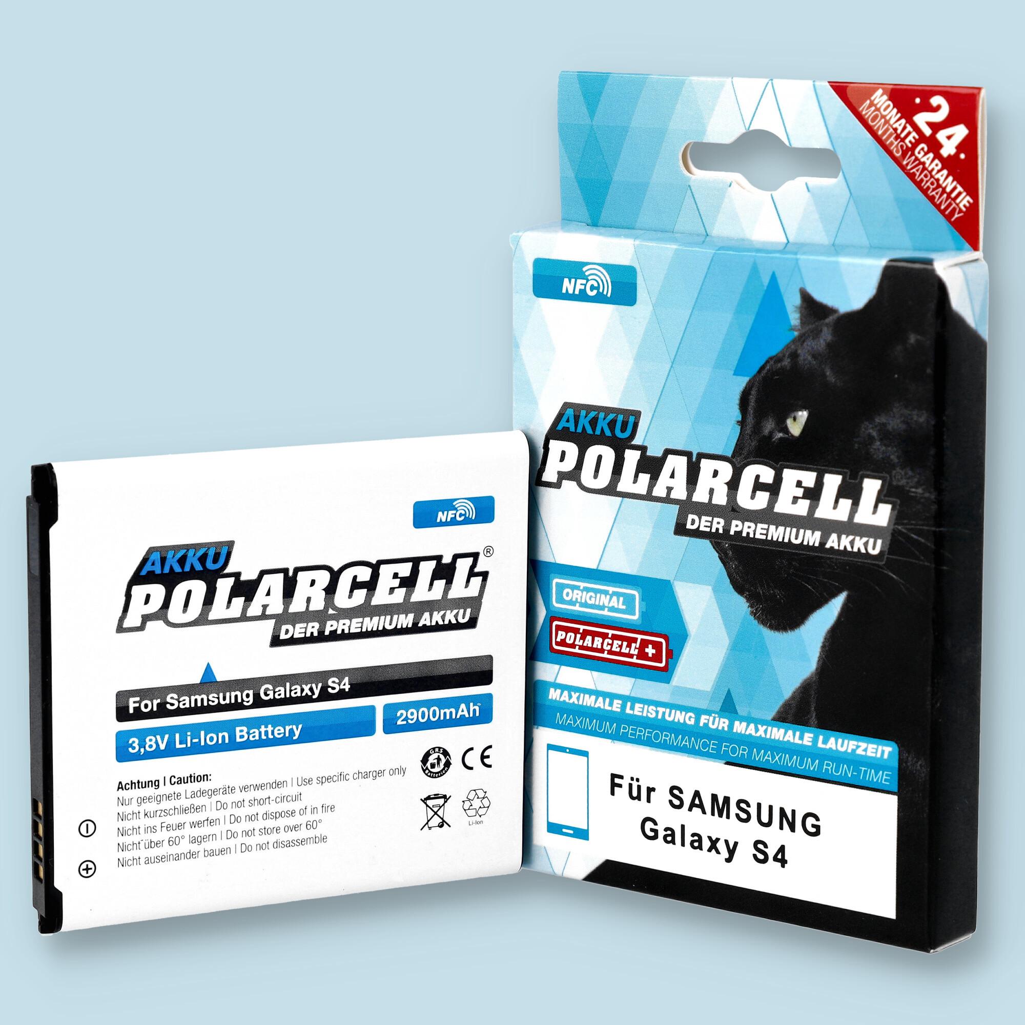PolarCell® Hochleistungsakku für Samsung Galaxy S4 VE GT-i9515 mit NFC-Antenne, ersetzt Originalakku  EB-B600BE - BU - BC