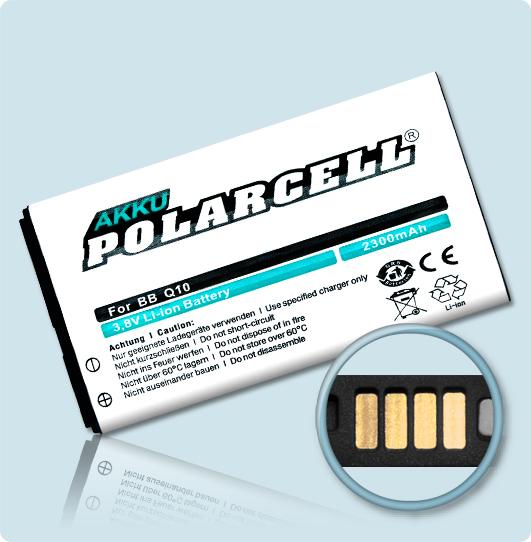 PolarCell® Hochleistungsakku für BlackBerry Q10, ersetzt Originalakku  N-X1