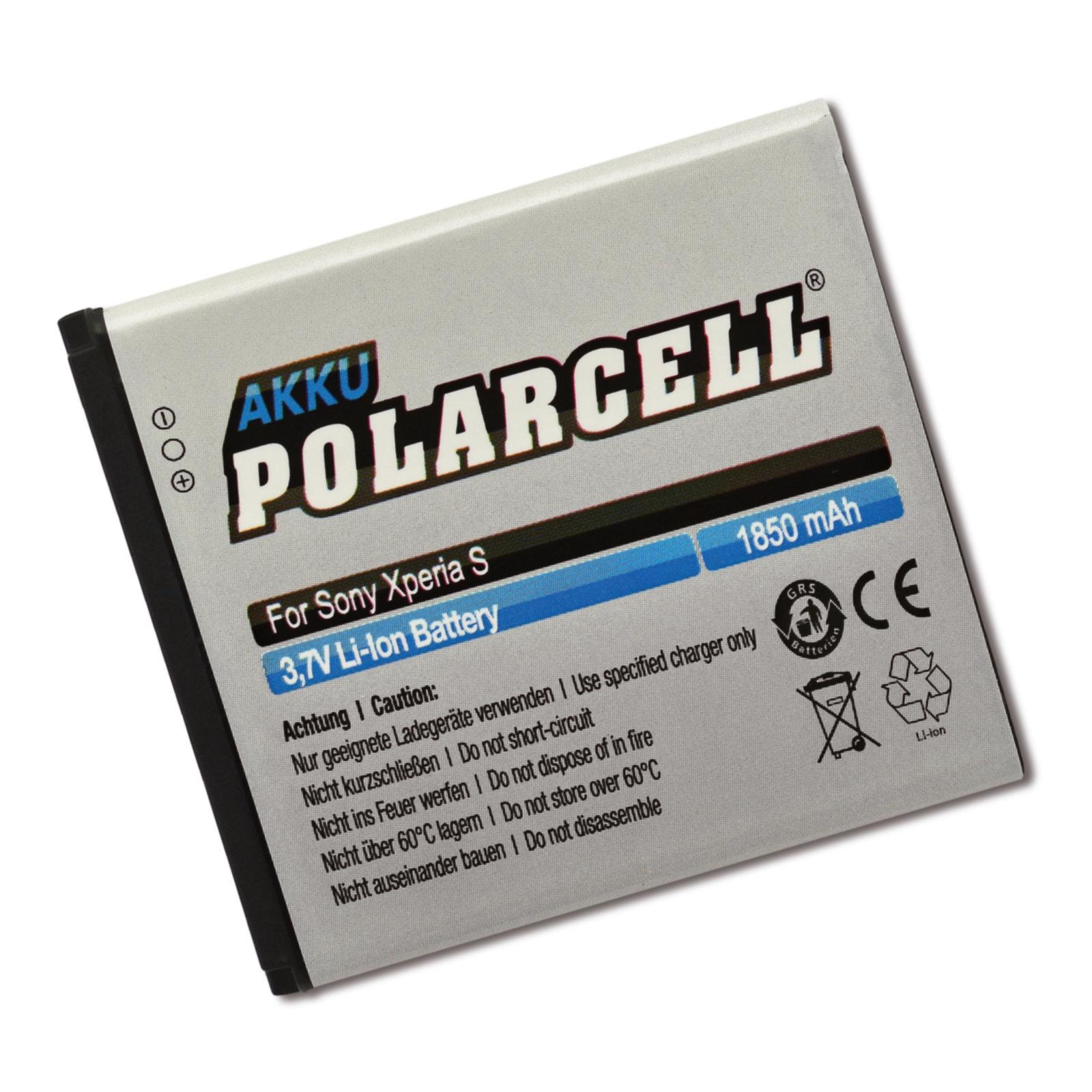 PolarCell® Hochleistungsakku für Sony-Ericsson Xperia V, ersetzt Originalakku  BA800