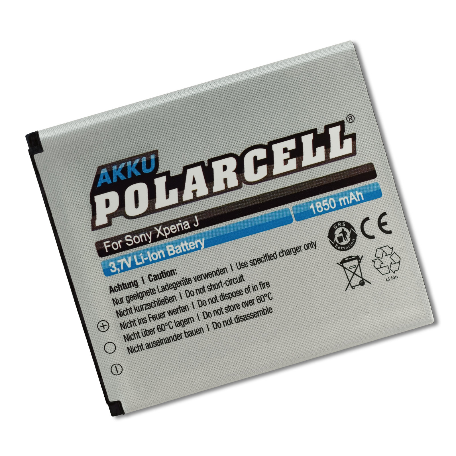 PolarCell® Hochleistungsakku für Sony Xperia E1, ersetzt Originalakku BA900