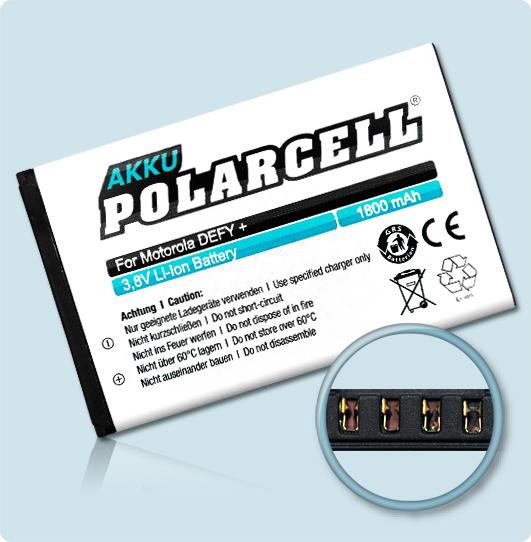 PolarCell® Hochleistungsakku für Motorola XT320, ersetzt Originalakku HF5X