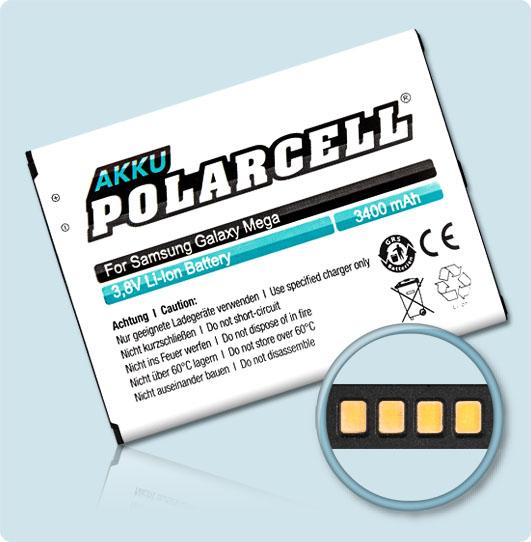 PolarCell® Hochleistungsakku für Samsung i9205, ersetzt Originalakku EB-B700BE - BU