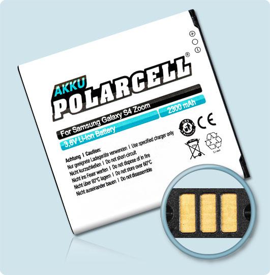 PolarCell® Hochleistungsakku für Samsung SM-C101, ersetzt Originalakku EB-B740AE