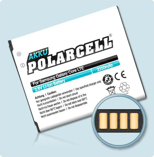 PolarCell® Hochleistungsakku für Samsung SM-G3815 (inkl. NFC-Antenne), ersetzt Originalakku EB-L1L7LLU