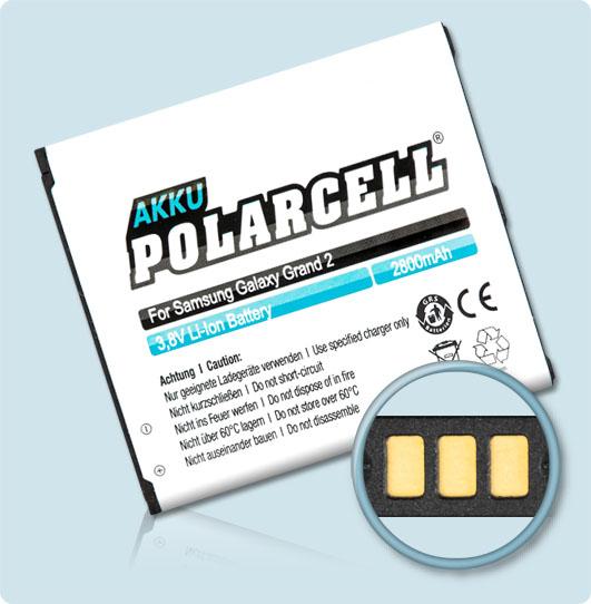 PolarCell® Hochleistungsakku für Samsung SM-G7102 ersetzt Originalakku EB665468LU