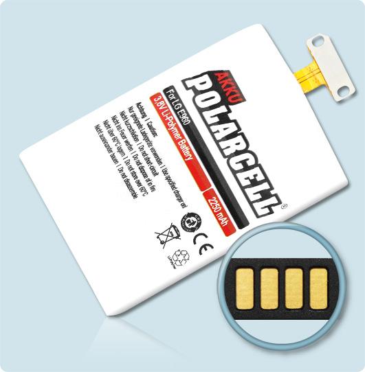 PolarCell® Hochleistungsakku für Samsung LG E975, ersetzt Originalakku BL-T5