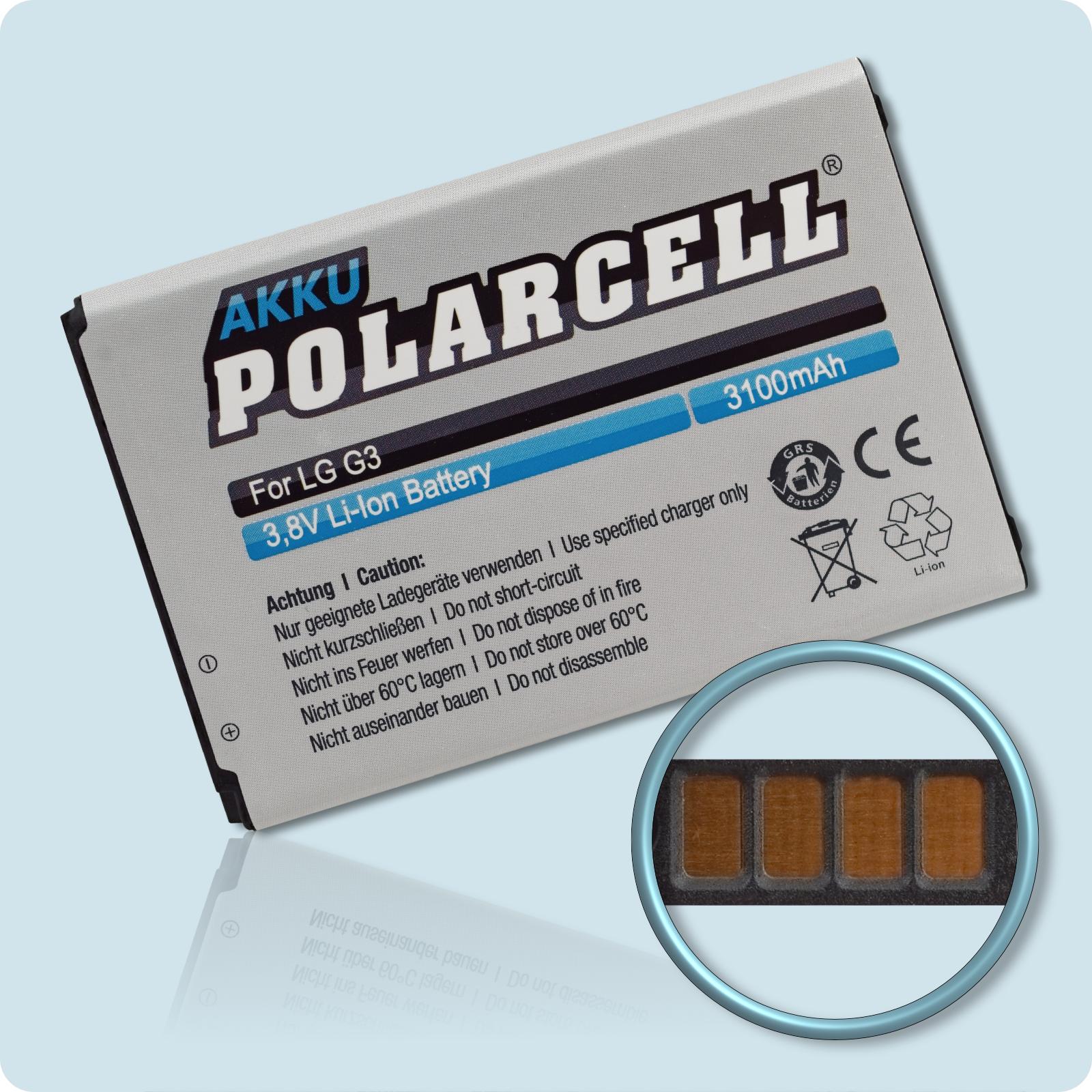 PolarCell® Hochleistungsakku für LG F400, ersetzt Originalakku  BL-53YH