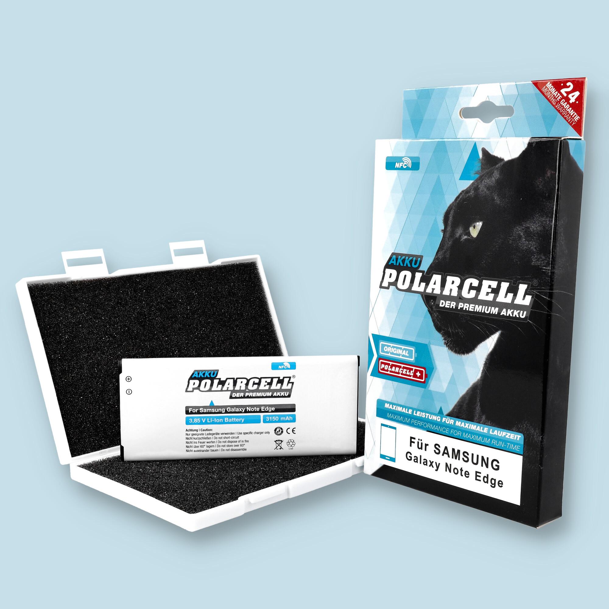 PolarCell® Hochleistungsakku für Samsung Galaxy Note Edge SM-N915FY inkl. NFC-Antenne, ersetzt Originalakku EB-BN915BBE - EB-BN915BBK