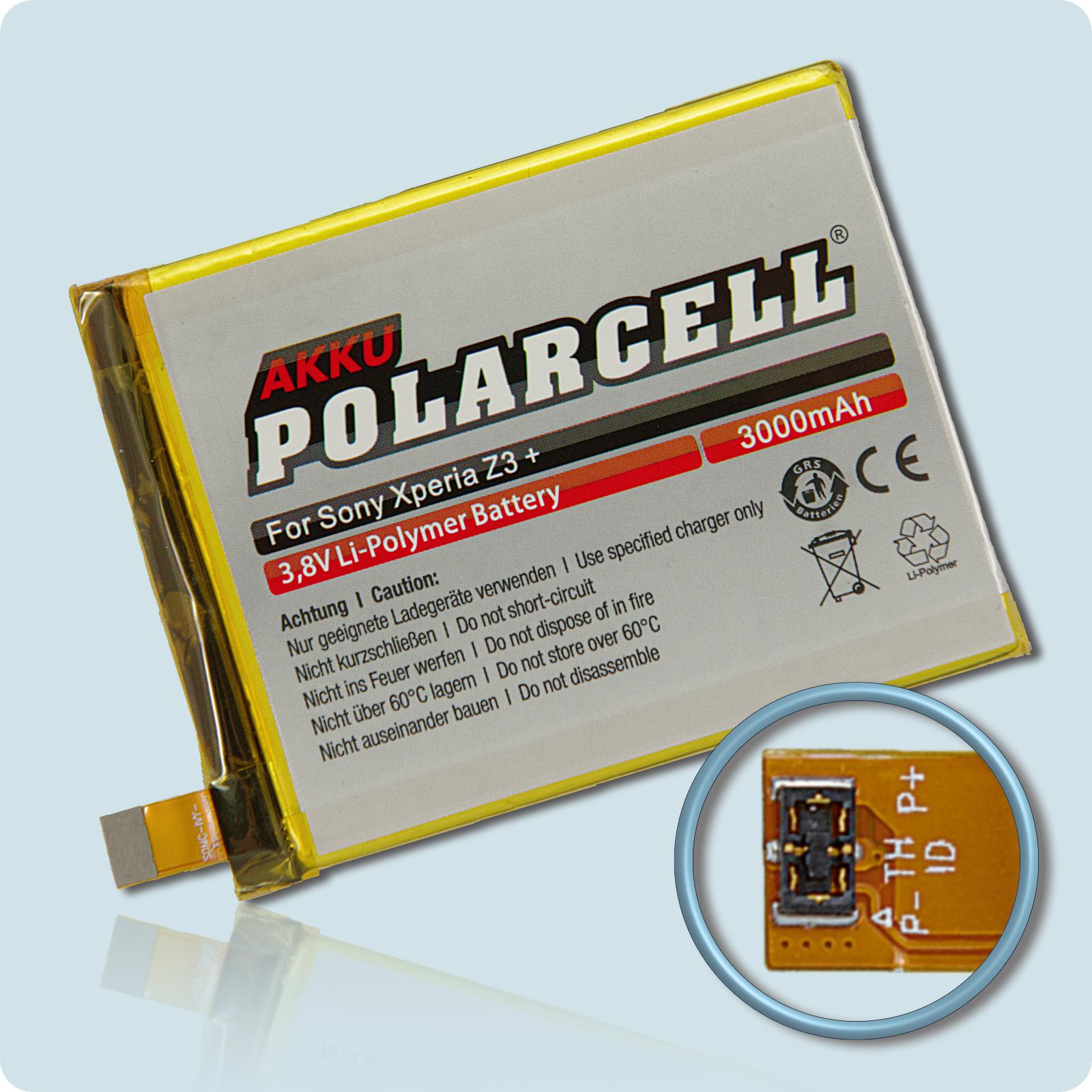PolarCell® Hochleistungsakku für Xperia Z4, ersetzt Originalakku  LIS1579ERPC