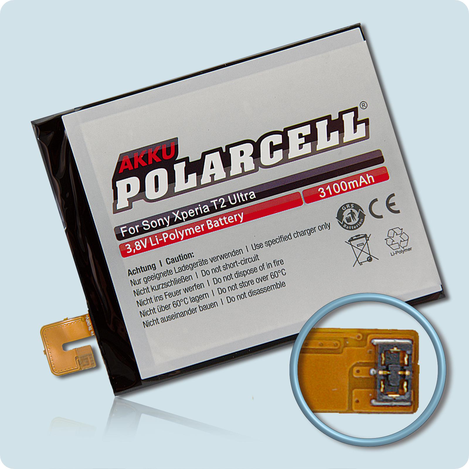 PolarCell Hochleistungs-Akku ersetzt Originalakku Sony AGPB012-A001