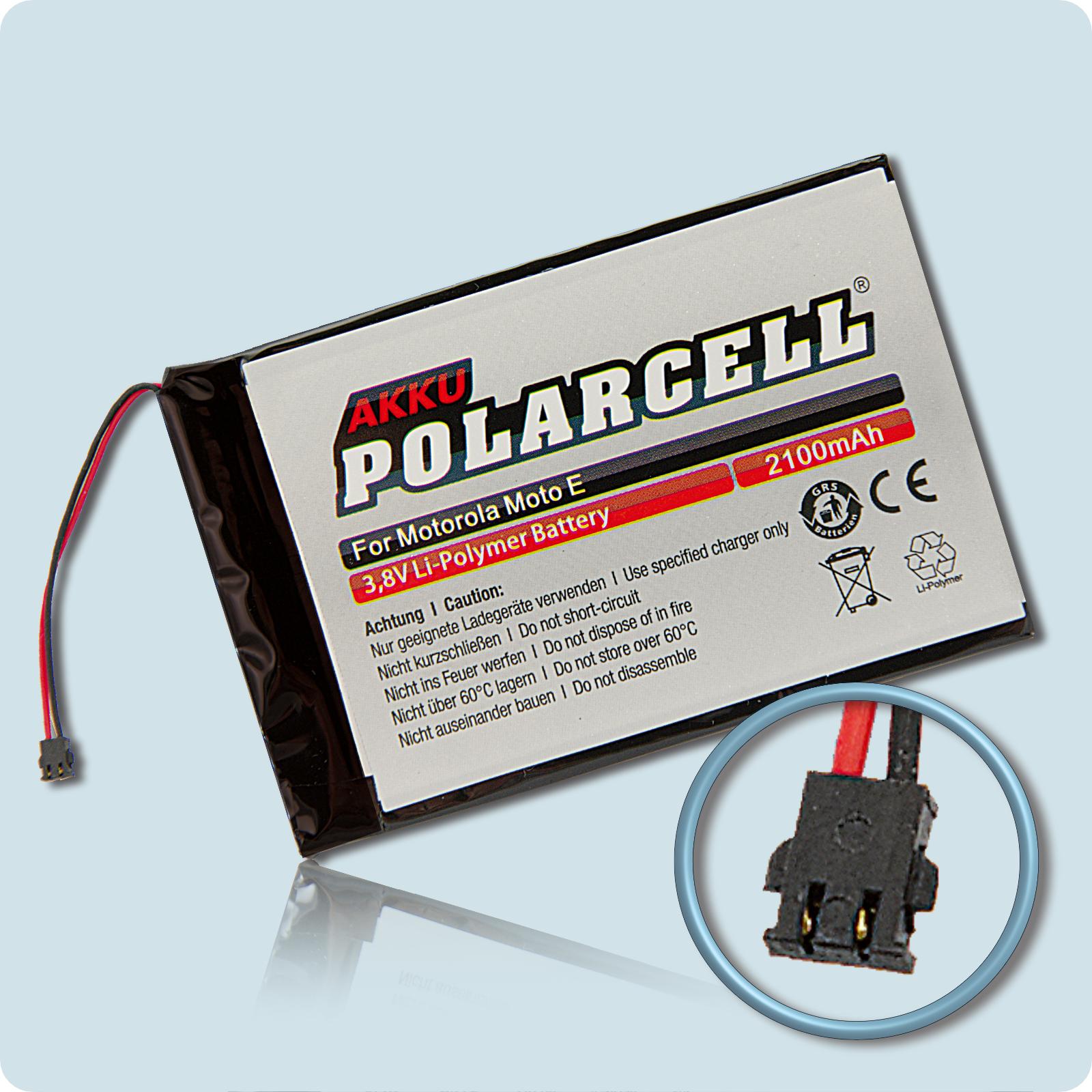 PolarCell® Hochleistungsakku für Motorola MOTO E, ersetzt Originalakku  BL40