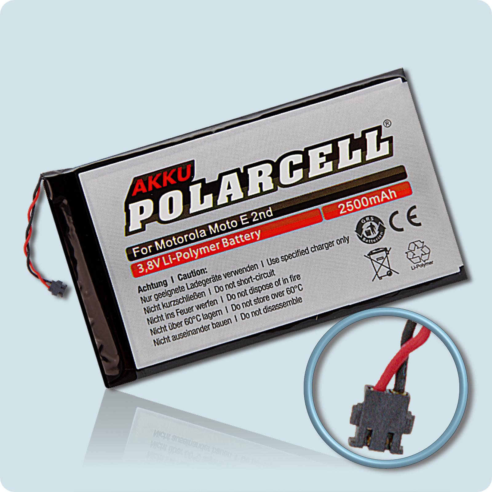 PolarCell® Hochleistungsakku für Motorola MOTO E 2nd Edition, ersetzt Originalakku  FT40 - SNN5956A
