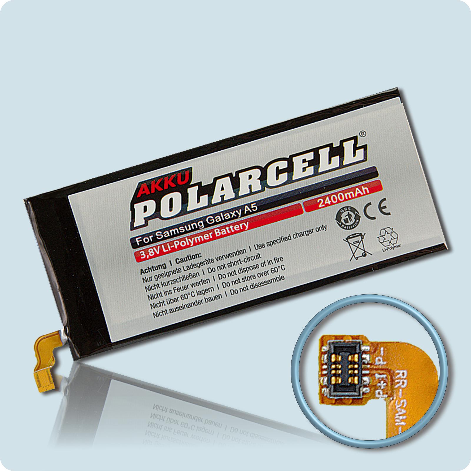 PolarCell® Hochleistungsakku für Samsung Galaxy A5 SM-A500F, ersetzt Originalakku EB-BA500ABE