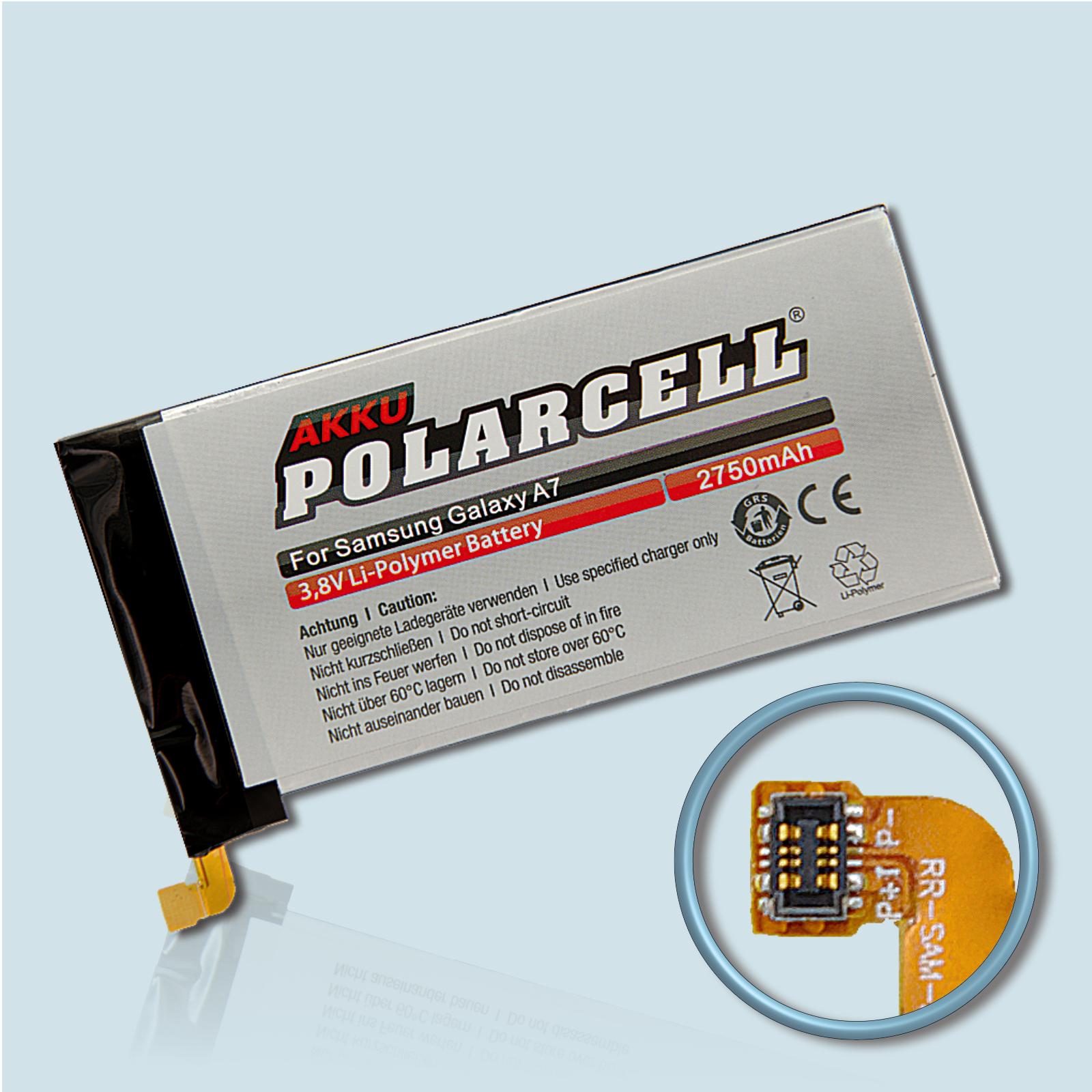 PolarCell® Hochleistungsakku für Samsung Galaxy A7 SM-A700F, ersetzt Originalakku EB-BA700ABE
