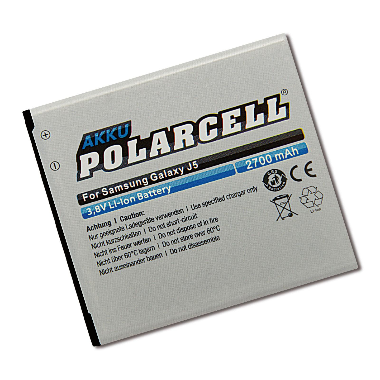 PolarCell® Hochleistungsakku für Samsung Galaxy Grand Prime SM-G530F, SM-G530FZ, SM-G530H mit NFC-Antenne, ersetzt Originalakku EB-BG530BBC