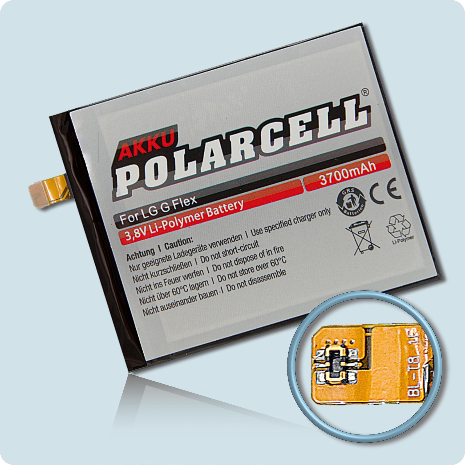 PolarCell® Hochleistungsakku für LG G Flex D955, ersetzt Originalakku BL-T8