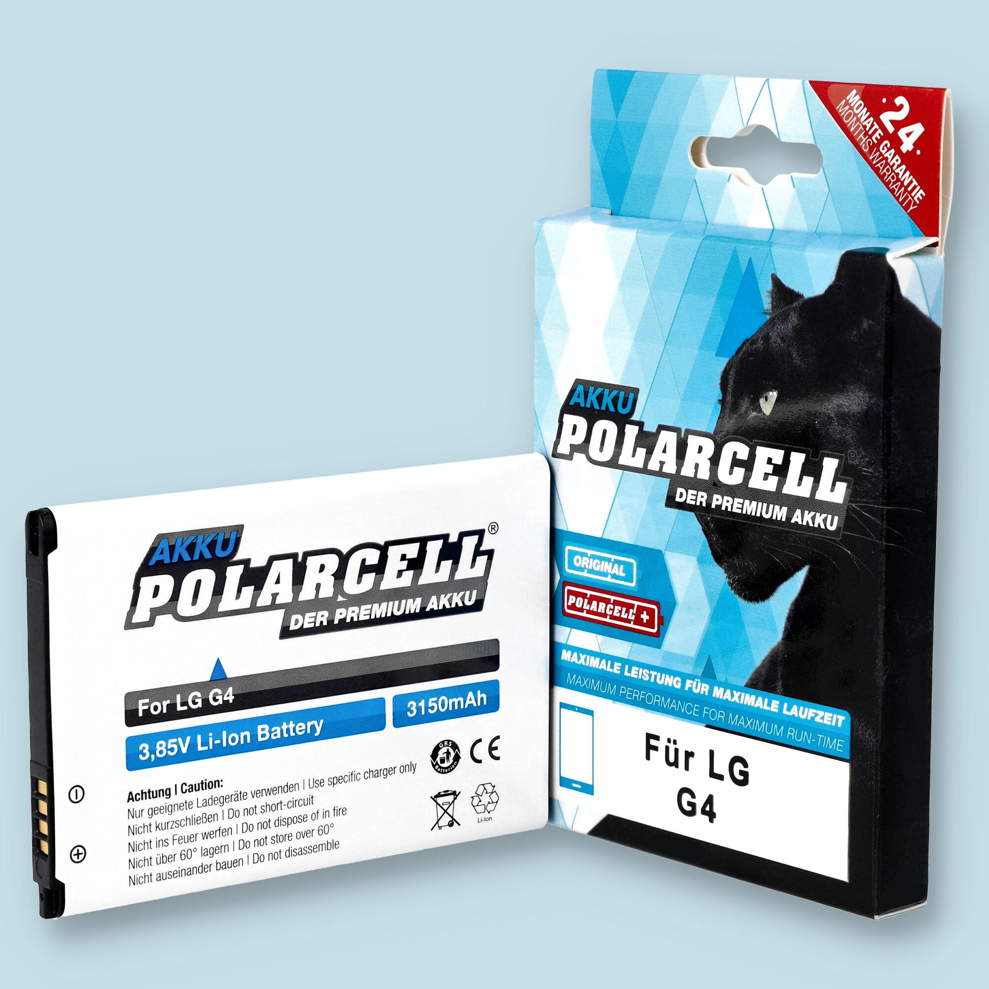 PolarCell® Hochleistungsakku für LG G4 Dual Sim H818P, ersetzt Originalakku BL-51YF