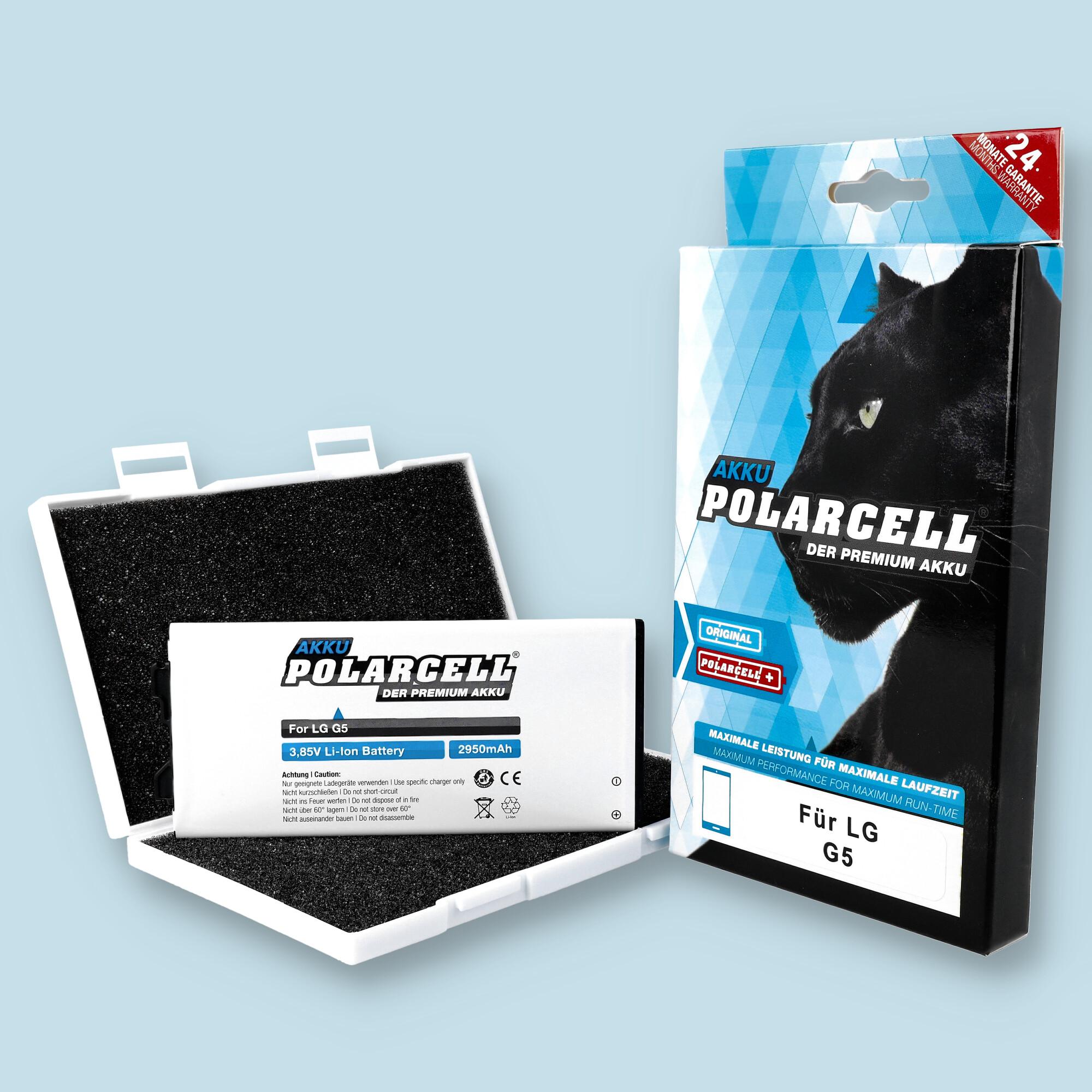 PolarCell® Hochleistungsakku für LG G5 H850, ersetzt Originalakku BL-42D1F
