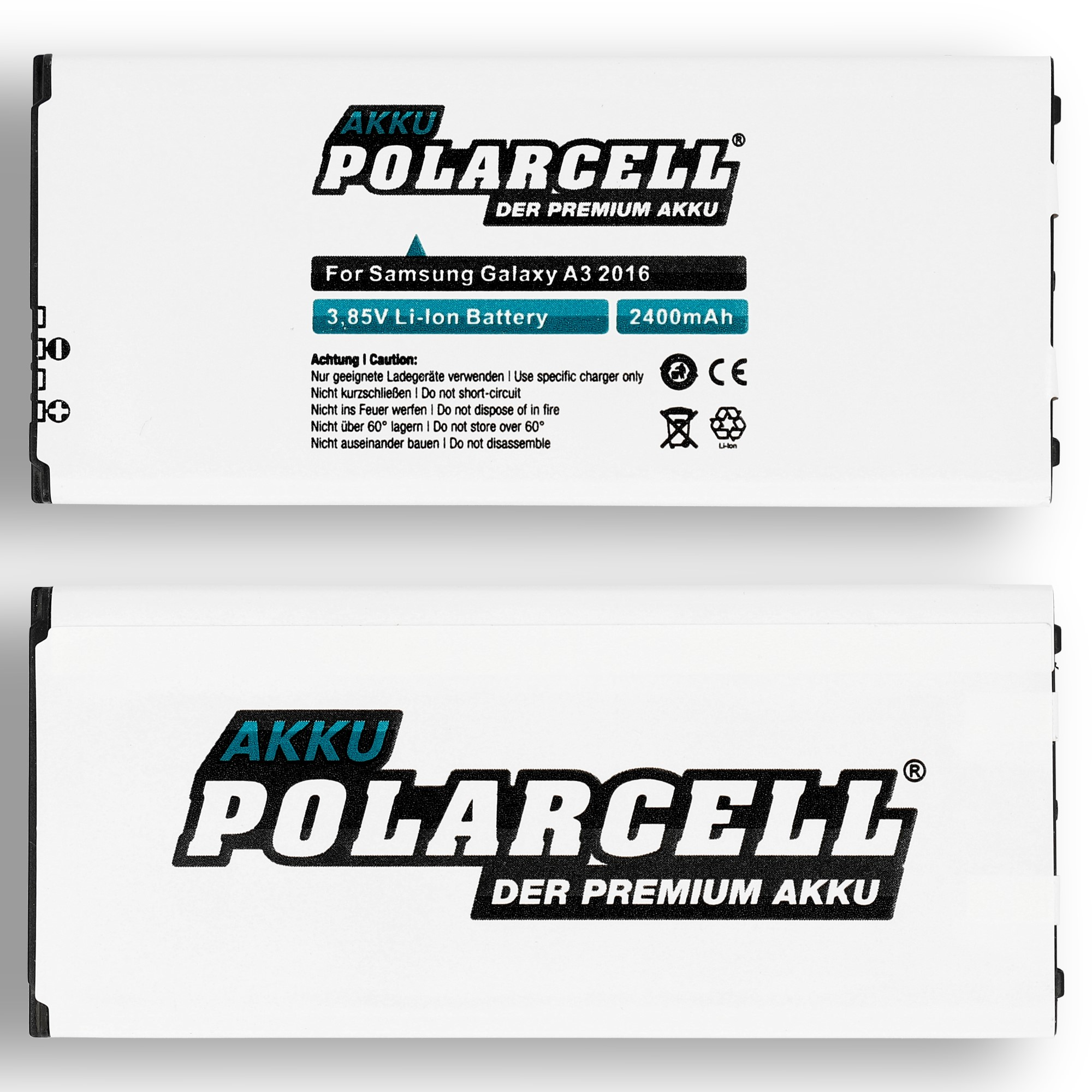 PolarCell-Batterie-pour-Samsung-Galaxy-A3-2016-SM-A310F-EB-BA310ABE-DuoS-2400mAh miniature 4