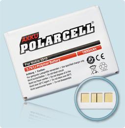 PolarCell® Hochleistungsakku für Nokia 3310, ersetzt Originalakku BLC-2