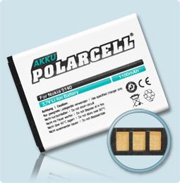 PolarCell® Hochleistungsakku für Nokia 6120, ersetzt Originalakku BL-5B