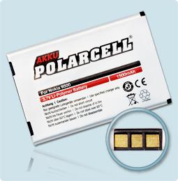 PolarCell® Hochleistungsakku für Nokia 9500, ersetzt Originalakku BP-5L