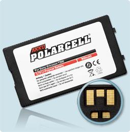 PolarCell® Hochleistungsakku für Sony-Ericsson T300, ersetzt Originalakku BST-22