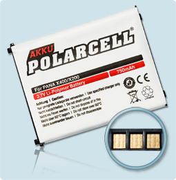 PolarCell® Hochleistungsakku für Panasonic X200