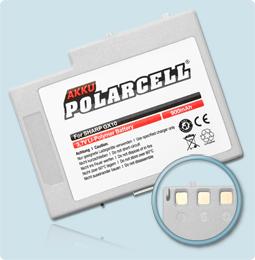 PolarCell Hochleistungs-Akku für Sharp GX10 GX20 ersetzt Originalakku Sharp XN-1BT11