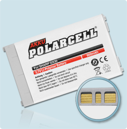 PolarCell® Hochleistungsakku für Sharp GX15, ersetzt Originalakku XN-1BT30