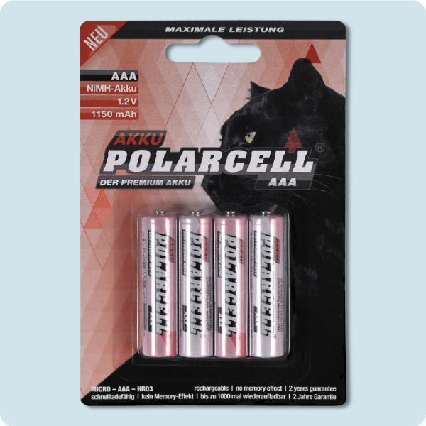PolarCell Micro AAA Premium Ni-MH Akku [4er-Blister]
