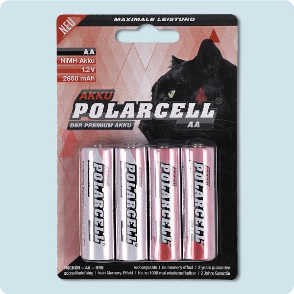 PolarCell Mignon AA Premium Ni-MH Akku [4er-Blister]