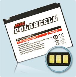 PolarCell® Hochleistungsakku für Samsung SGH-Z540v, ersetzt Originalakku AB503445CE - CU
