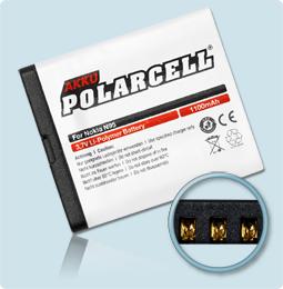 PolarCell® Hochleistungsakku für Nokia N95, ersetzt Originalakku BL-5F